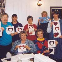 Ladies of the Country Lane Guild in Millarville, a village near Calgary, Alberta, Canada